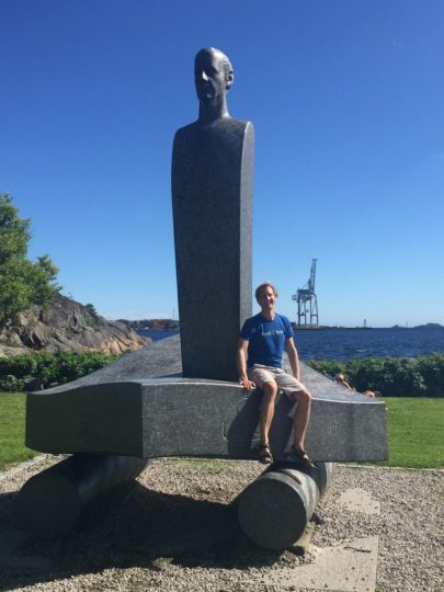 Floris with Thor Heyerdahl