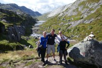 Hiking to Kjerag with Mirjam and Jelle