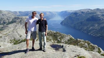View from Preikestolen into the Lysefjord