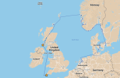 Our route from Isle of Islay to Falmouth