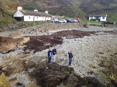 Exploring the Isle of Man beach