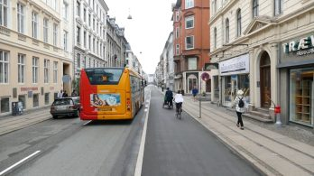 Redesigned street in Copenhagen
