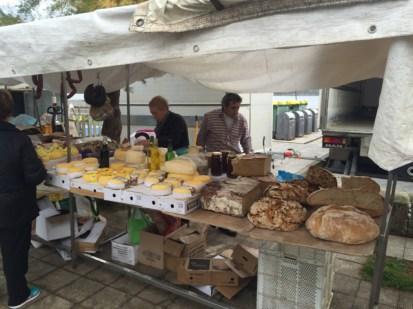 Friday street market in Muros