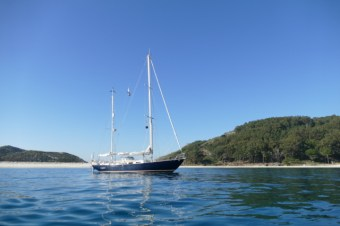 Luci on Islas Cíes anchorage