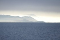 View from our Finisterre anchorage
