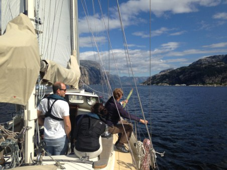Sailing in the Lysefjord