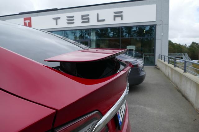 At the Tesla dealer