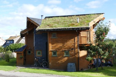 Modern ecohome at Ecovillage Findhorn