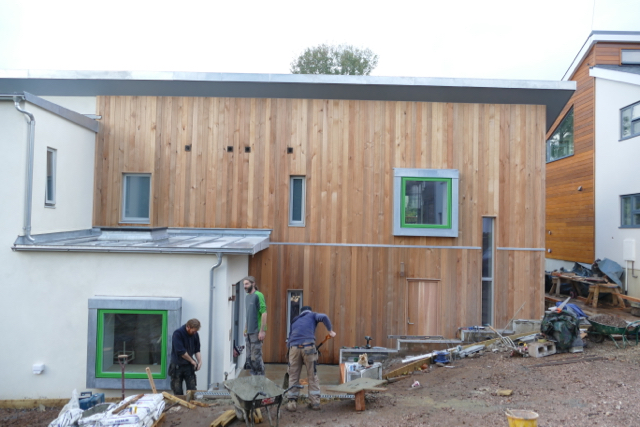 Ecohome under construction in Transition Town Totnes