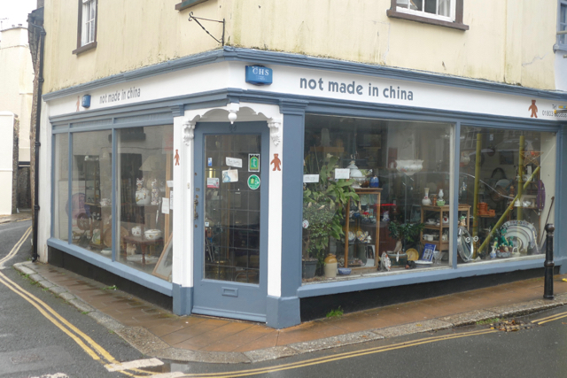Not made in China store in Transition Town Totnes