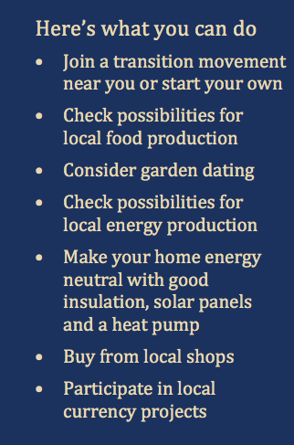 What you can do - Transition Towns