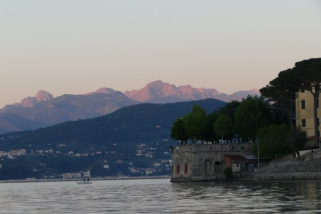 View from our anchorage in Le Grazie