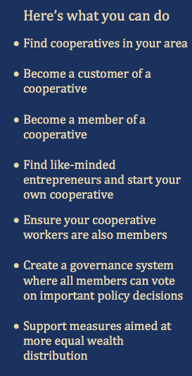 What you can do - Cooperatives
