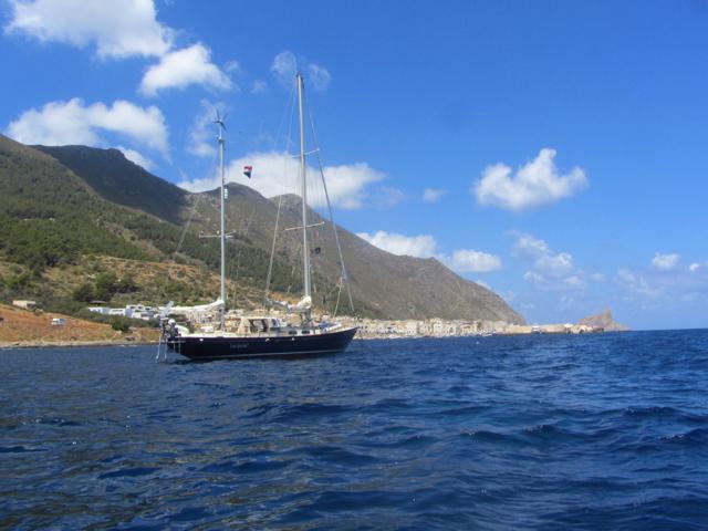 Luci at the anchorage of Isola di Marettimo