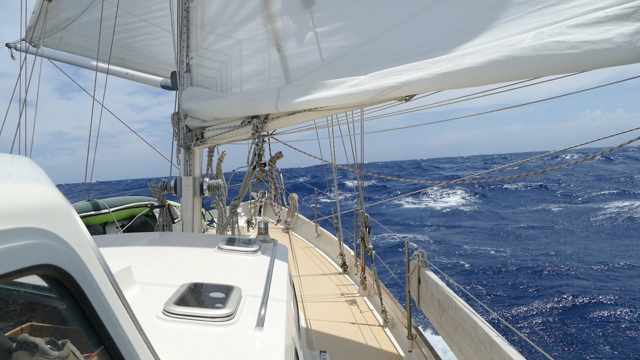 Sailing downwind to Isola di Vulcano