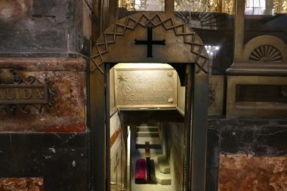 Into the St. James crypt