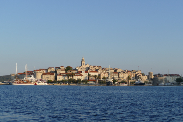 Korcula from a distance