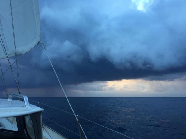 Dark clouds approaching