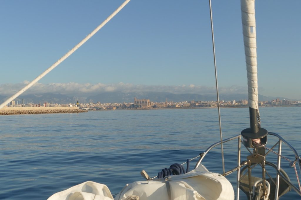 Approaching Palma de Mallorca