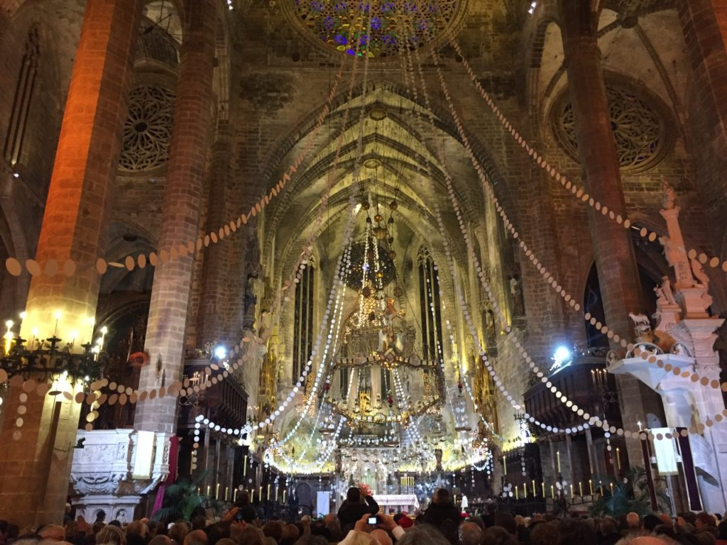 Night mass in Palma's Cathedral