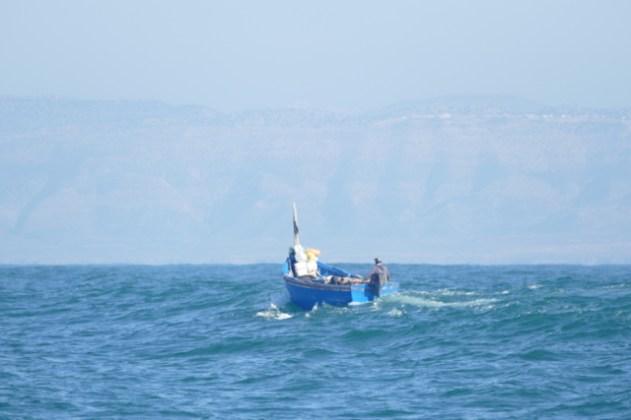 Fishing boat near the Moroccan coast