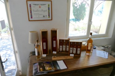 Selection of organic wines at Chateau Margüi