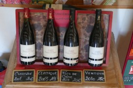 Selection of organic wines at Domaine de La Gasqui