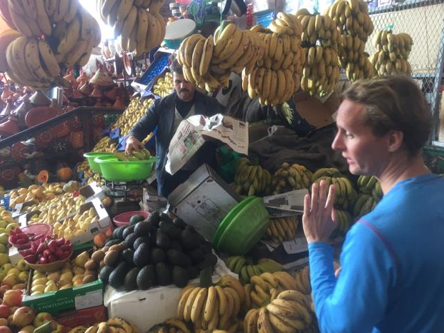 Stocking up on fresh fruits