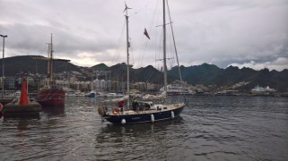 Entering Santa Cruz de Tenerife marina - picture by Falk & Suzanne