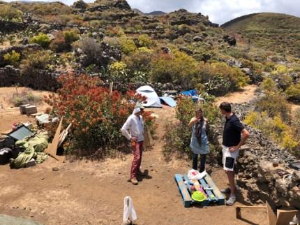 Building a permaculture garden on El Hierro