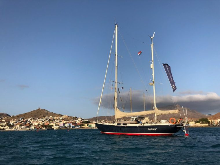 Luci at the Mindelo anchorage