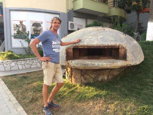 One-man bunker in Albania