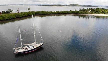 Anchored at Ilha de Goio