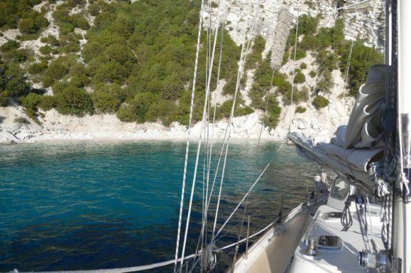 Anchored near monitoring beach