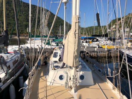 Our berth at the Niteroi Yacht Club
