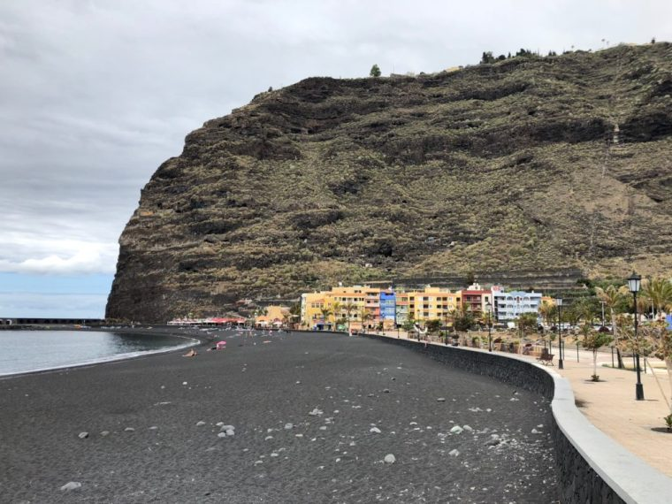 Black volcanic sand on Tazacorte beach
