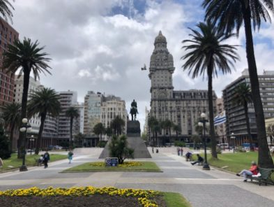 Independence square Montevideo