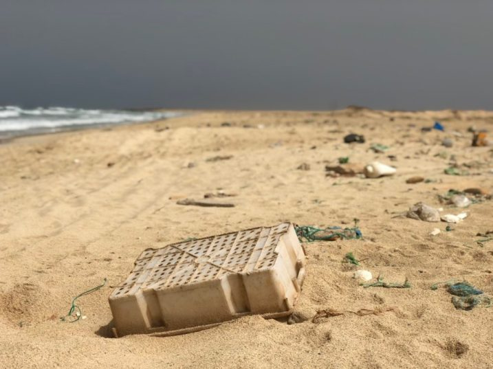 Plastic waste on Sal's beaches