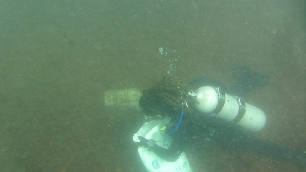 Removing plastic from the seabed
