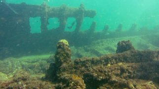 Even after a century parts of the wreck are still recognizable