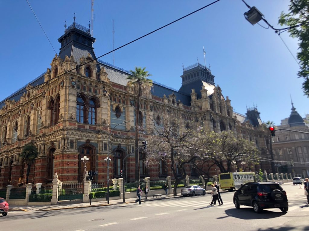 Former water company headquarters, one of many historic buildings in Buenos Aires