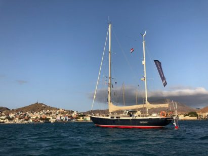 Lucipara2 at the anchorage in Mindelo