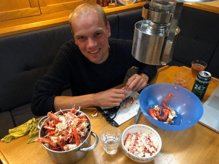 CCO Making king crab salad