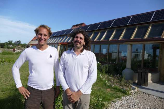 With Matias at the sustainable school