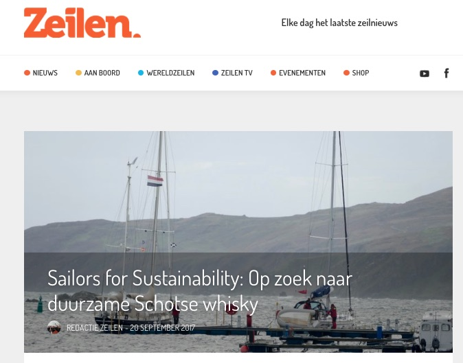 10 Sailors for Sustainability at Zeilen about Sustainable Whisky 20170920