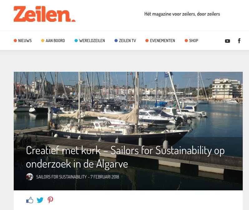 15 Sailors for Sustainability at Zeilen about Cork 20180207