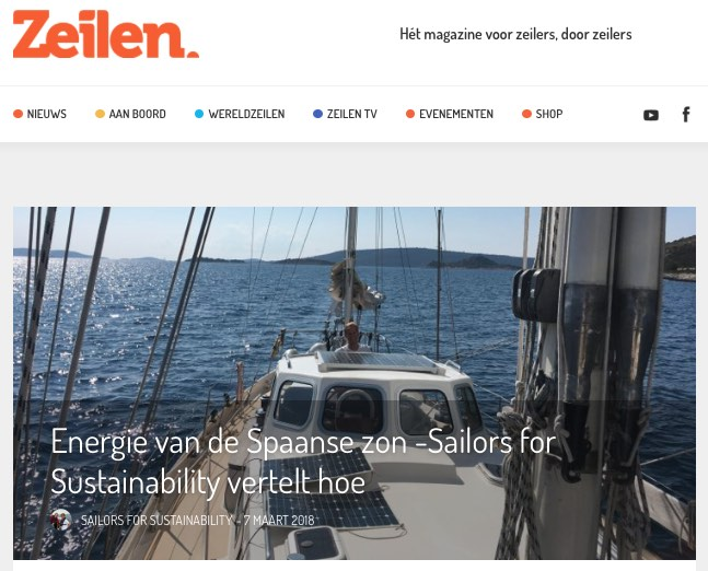 16 Sailors for Sustainability at Zeilen about Solar Energy 20180307