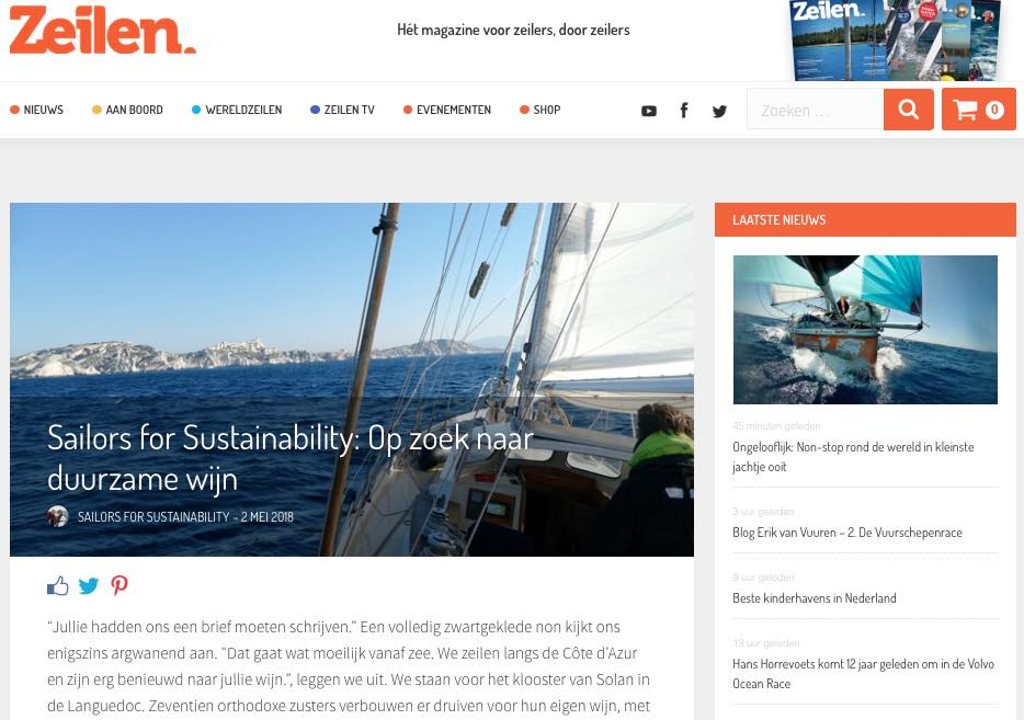 18 Sailors for Sustainability at Zeilen about Sustainable Wine 20180502