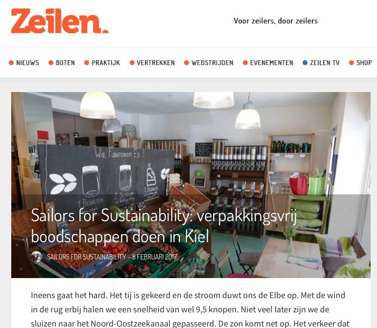 2 Sailors for Sustainability at Zeilen about Zero Waste 20170213