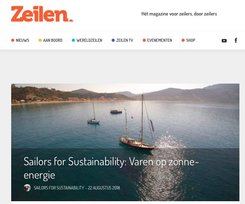 22 Sailors for Sustainability at Zeilen about Solar Wave 20180822